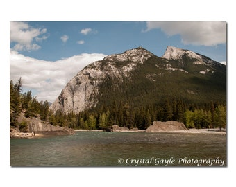 Rocky Mountains Photography, Canadian Landscape Print, Lodge Decoration, Lake House Wall Art, Woodland Forest, 8x10 8x12 11x14 12x18 Inches