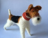 Needle Felted Wire Fox Terrier