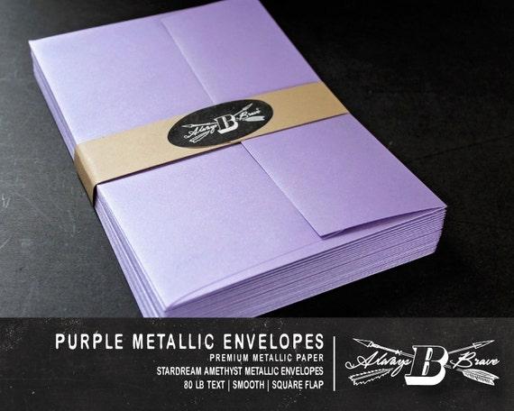 25 purple metallic a7 envelopes invitation envelope 5 1 4