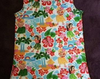 Hula girl dress size 3-4