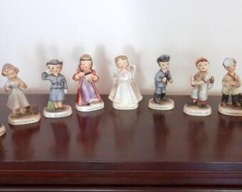 """Vintage Lefton Figurines - """"I Would LIke to Be"""" Series - Nine Figures - 1950's Lefton Set of Figurines"""