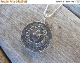 ON SALE Immaculate Conception necklace in sterling silver