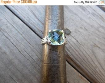 ON SALE Blue topaz ring handmade in sterling silver