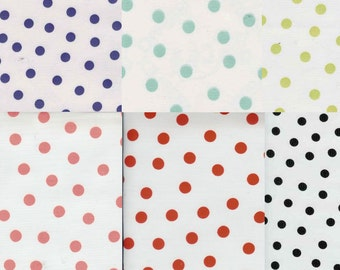 Colorful Polka Dots on White Oilcloth, Full Bolt of 12 Yards