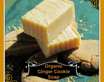 Organic Ginger Cookie Cold Processed Soap - Made with Real Organic Ginger plus Organic Ginger Essential Oil  Great for warming up in winter!