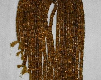 Andalusite, Andalusite Heishi, Brown Heishi Bead, Natural Stone, Semi Precious, Gemstone Heishi, 5-6 mm, Full Strand, AdrianasBeads