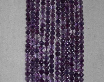 Amethyst, Amethyst Bead, Faceted Bead, Natural Stone, Semi Precious, Gemstone Bead, Purple Bead, Full Strand, 8mm