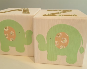 Bookends for Children- SWEET ELEPHANTS Theme with Bling