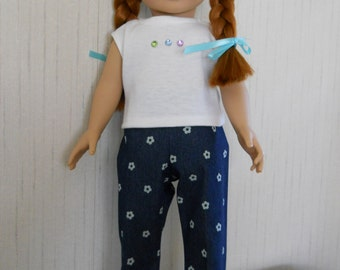 "18"" Doll Jeans with Top for American Girl Type Dolls"