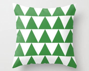 Triangles Pillow Cover, in Kelly