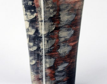 Tall Cup with Marbled Surface
