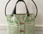 Grass Green Felted Tote Bag