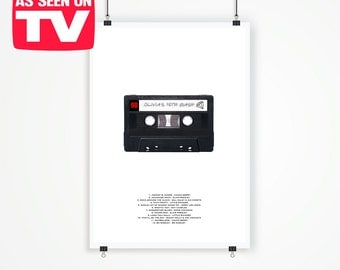 Personalised Retro Styled Cassette Poster Print. Large A2 (42 x 59.4 cm).