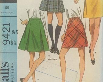 Vintage 1968 a-line skirt pattern