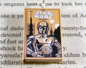 Miniature Classic Novels Book Necklace Charm Star Wars Version 2