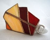 All the colors of Sunrise Hand Crafted Abstract Stained Glass Nightlight