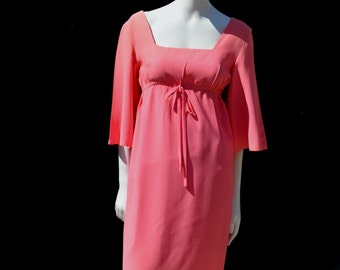 Vintage 60's early CONTEMPO CASUALS mod pink dress sexy sM by thekaliman