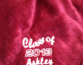 Personalized Embroidered - Oversize Tahoe Microfleece Throw