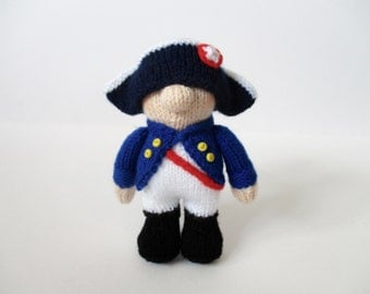 Napoleon doll knitting pattern
