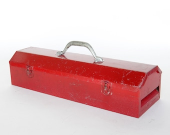 Old Very Red Metal Tool Box