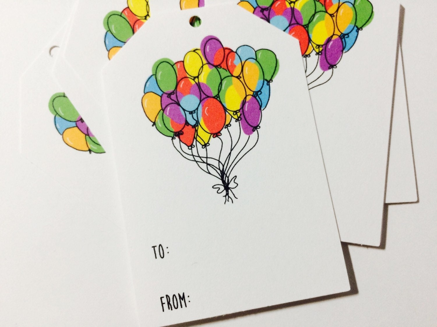 Balloon Tag: Birthday Gift Tags Balloon Gift Wrap Hanging Tags To From