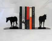 Horse Silhouette Metal Art Bookends