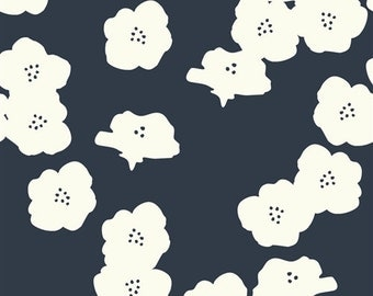 Organic DOUBLE GAUZE Fabric - Poppies Dusk