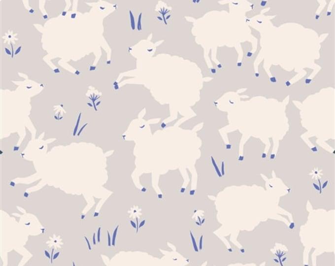 Organic KNIT Fabric - Birch Homestead Knits - Little Lamb Fog Knit