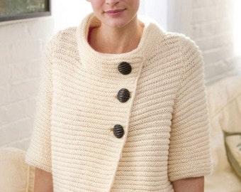 Knitting Pattern Cozy Cardigan Instant Download Knitting Cardigan Pattern  Knitted Ribbed  Cardigan PDF Pattern
