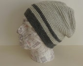 MEN'S SLOUCH hat / beanie . Alpaca / wool blend . Super-soft. 'London Fog' .UK seller.. ready to ship....