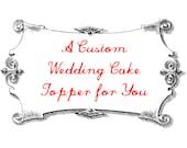 Sloth and Honey Badger Wedding Cake Topper