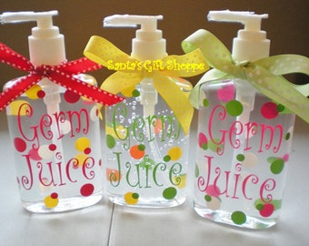 Personalized Hand Sanitizer, Teacher Gift, Nurse, Coach, ONE  8 oz., Adults, Teens, Gifts,Stocking Stuffer,Valentine's Day Gift