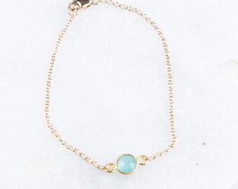 Gemstone Layered Gold Bracelet, Gemstone Bezel Connector Bracelet, Bridesmaid Gemstone Bracelet, Dainty Bracelet Gold, Turquoise Bracelet