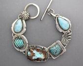 Larimar and Turquoise Bracelet