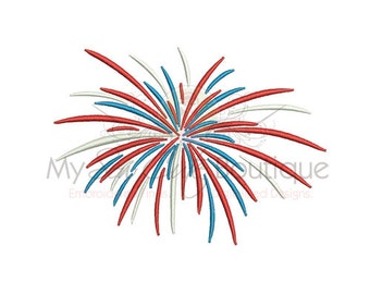Fireworks Embroidery Design - 9 Sizes - Instant Download