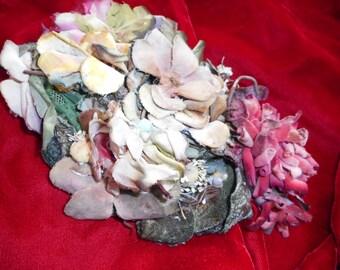 x Antique Hat Velvet Flowers, Don Anderson NY (FF052716-11L)