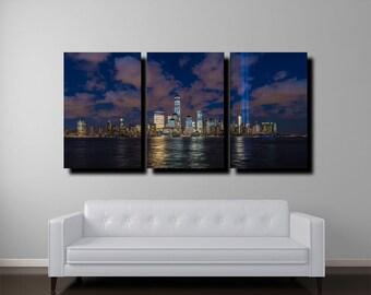 New York Skyline Canvas, Manhattan Skyline, New York Art