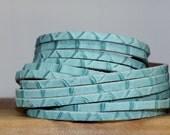 SALE Multi Strand Cuff Bracelet, Turquoise Genuine Leather Wrap Bracelet, Snakeskin Print Cuff