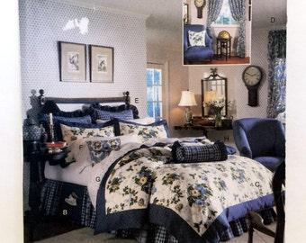 Butterick Waverly 5860, Dust Ruffle Pattern, Duvet Cover Pattern, Valance Pattern, Drapes & Tiebacks, Pillow Sham Pattern, Bed Caddy Pattern