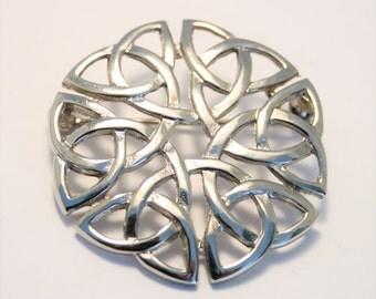Vintage Celtic knot brooch.