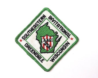 1970s Vintage Patch Embroidered WI Wisconsin