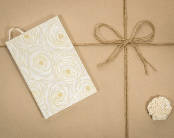 Golden roses, colorful, Agility journal, hard cover, handmade, speciality notebook