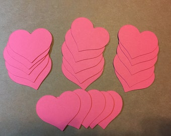 "20 - 1.75"" Heart Die Cuts - pick your color"