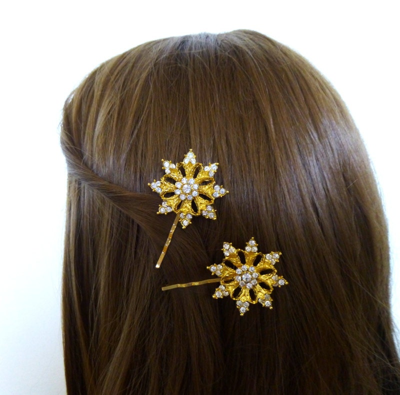 Winter Wedding Accessories Bridal Hair Clips Bridesmaid Bobby