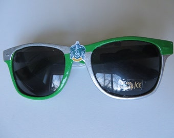 Slytherin- Green and Silver Slytherin Inspired Wayfarer Sunglasses