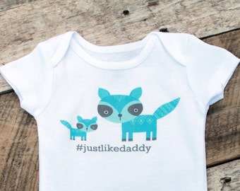 NEW Just Like Daddy Onesies®, Baby Boy Onesie, Daddy and Son Shirt, New Dad, Baby Boy Clothes, Onesie, Baby Singlet, Cute Baby Clothes