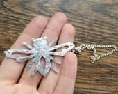 Metal bee pendant necklace, simple bee pendant, bee jewelry