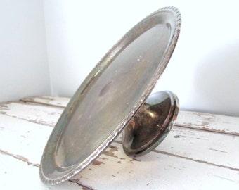 Elegant Vintage Silver Cake Stand