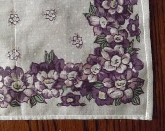 Vintage Floral Printed Handkerchief