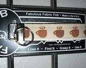 Coffee Latte Cocoa Hot Chocolate Cup Mug ~ E39 ~ Key Chain Fob ~ Zipper Pull
